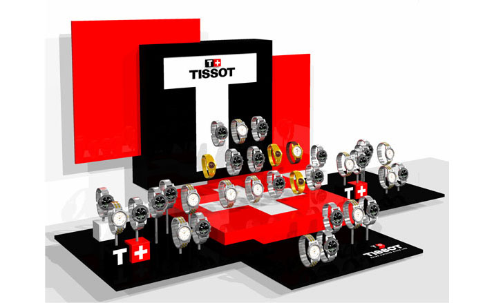 Tissot montres 3D display